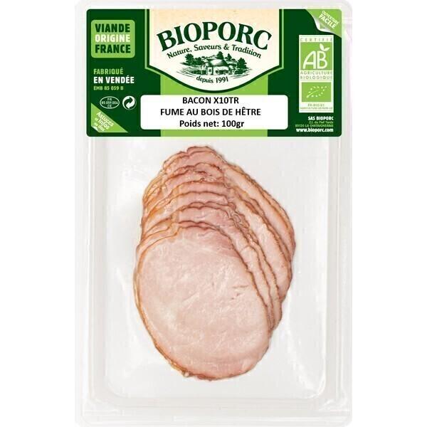 Bioporc - Bacons x10 en tranches 100g