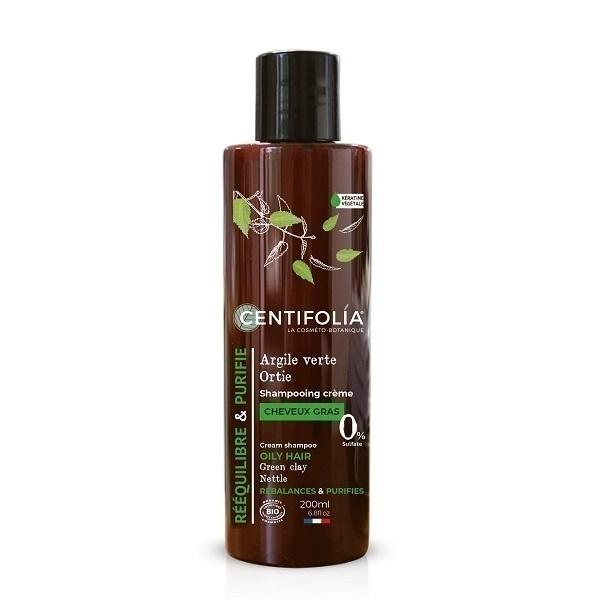 Centifolia - Shampoing Crème Cheveux gras Ortie et Argile verte 200ml