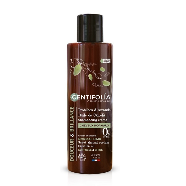 Centifolia - Shampoing Crème Cheveux normaux Amande douce & Camélia 200ml