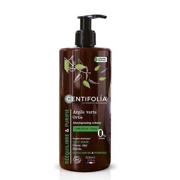 Centifolia - Shampoing Crème Cheveux gras Ortie et Argile vert 500ml