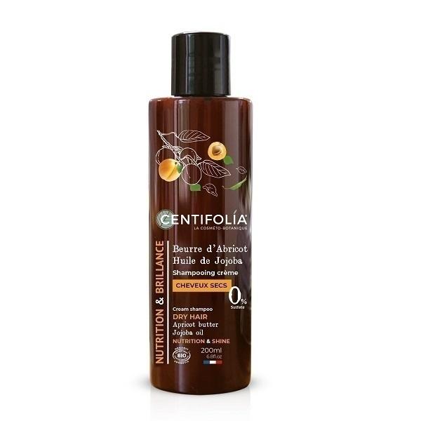 Centifolia - Shampooing crème cheveux secs Abricot et Jojoba- 200 mL