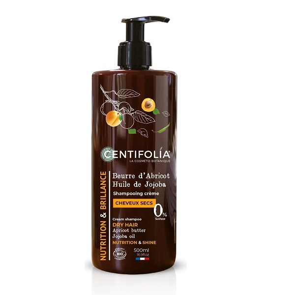 Centifolia - Shampooing crème cheveux secs Abricot et Jojoba-500ml