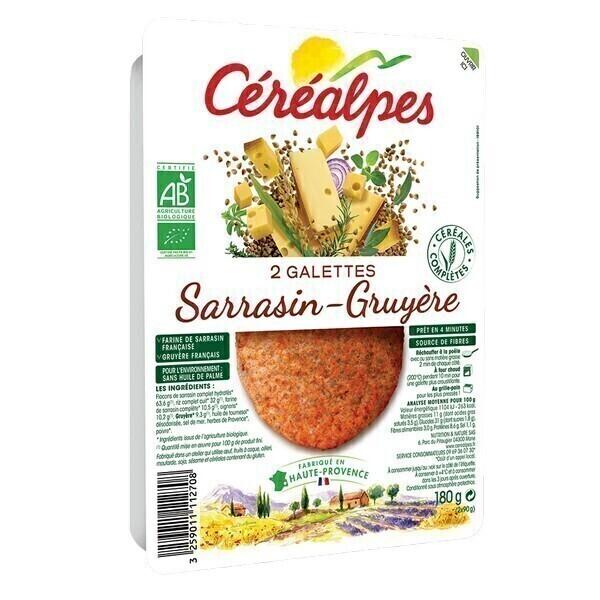 Céréalpes - Galettes sarrasin gruyère 2x90g