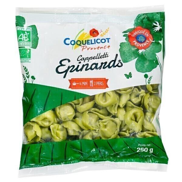 Coquelicot - Cappelletti épinards 250g