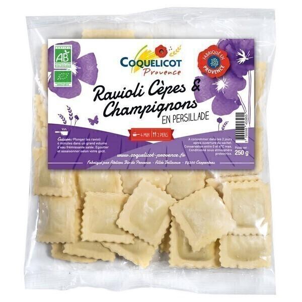 Coquelicot - Ravioli cèpes & champignons en persillade 250g