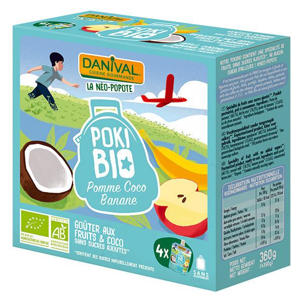 Danival - Pokibio pomme coco banane 4 x 90g