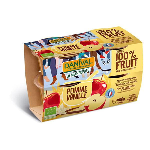 Danival - Purée de fruit pomme vanille 4x100g