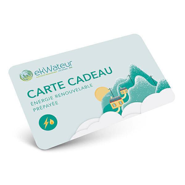 Ekwateur - Carte cadeau Energie Renouvelable 59 Euros