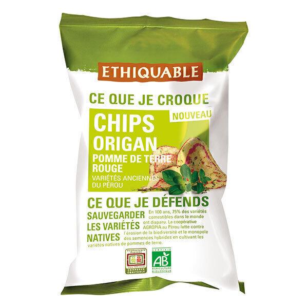 Ethiquable - Chips pomme de terre rouge origan Pérou 100g