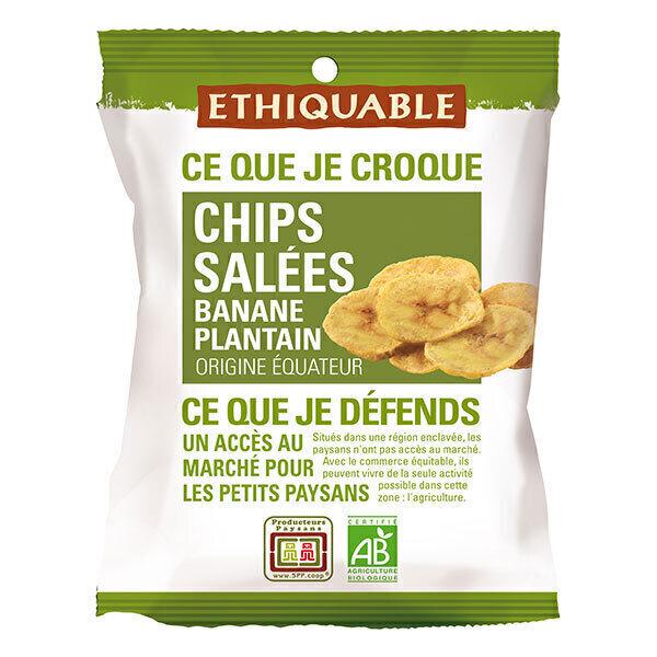 Ethiquable - Chips salées banane plantain Equateur 85g