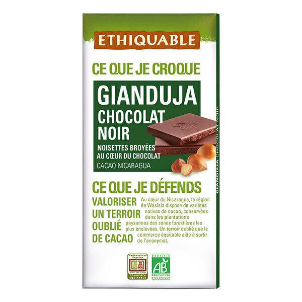 Ethiquable - Chocolat noir gianduja Nicaragua 100g
