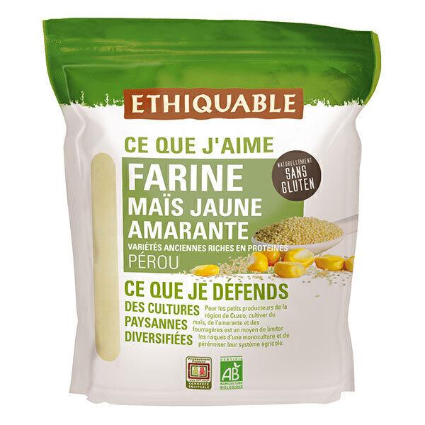 Ethiquable - Farine maïs jaune amarante Pérou 400g