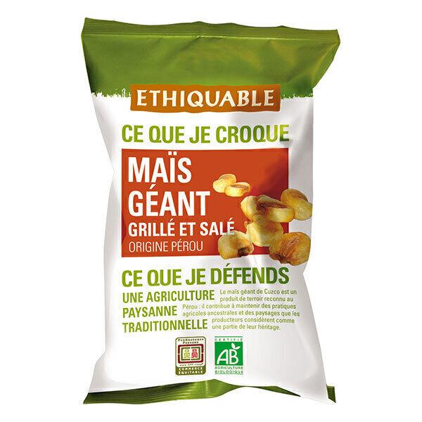 Ethiquable - Maïs géant grillé salé Pérou BIO 100g