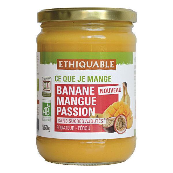 Ethiquable - Purée banane mangue passion Equateur/Pérou 560g