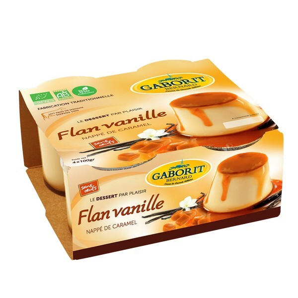 Gaborit - Flan vanille nappé caramel 4x100g