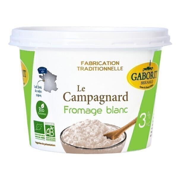 Gaborit - Fromage blanc campagnard 3% 500g