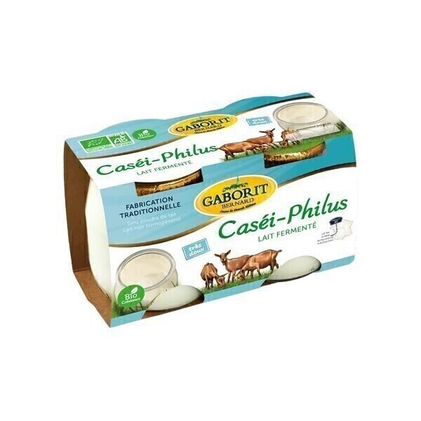 Gaborit - Yaourt chèvre fermenté Casei Philus 2x125g