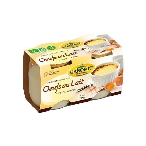 Gaborit - Oeufs au lait 2x125g