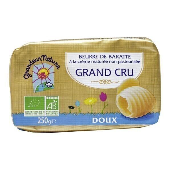 Grandeur Nature - Beurre doux au lait cru 250g