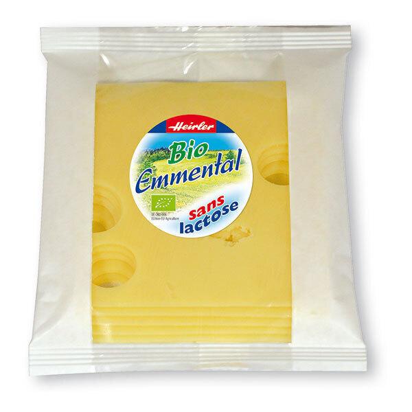 Heirler - Emmental tranches sans lactose 120g