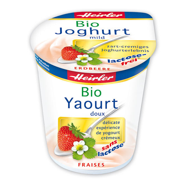 Heirler - Yaourt fraise sans lactose 150g