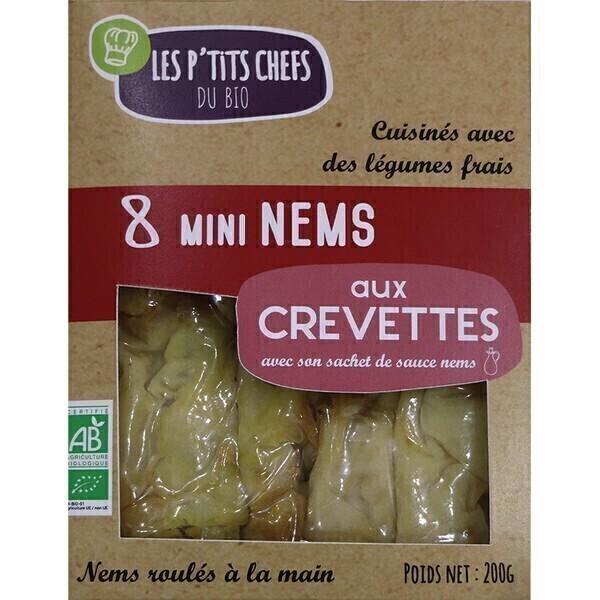Les P'tits Chefs du Bio - Nems aux crevettes x8 210g