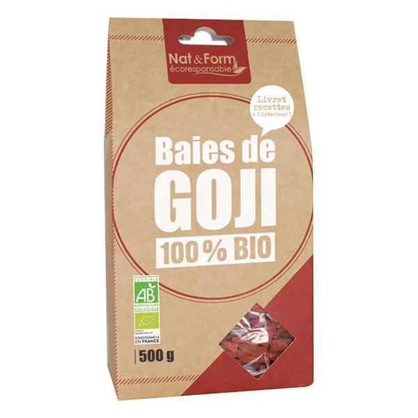 Nat & Form - Lot de 2 x Baies de Goji 100% Bio -2 x 500g