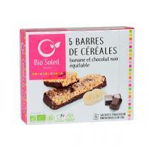 Bio Soleil - Barres de céréales banane chocolat x5 130g