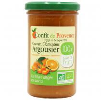 Confit de Provence - Confiture allégée en sucre Orange Clémentine Argousier 290g