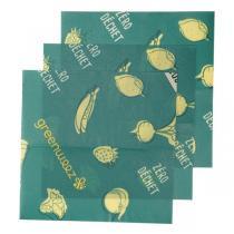 Greenweez - Emballages réutilisables cire végétale 19x19cm - Lot de 4