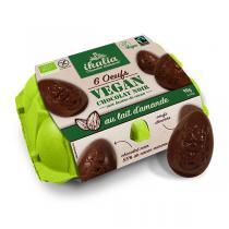 Ikalia - Boite 6 oeufs vegan au chocolat noir 90g