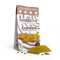 Résurrection - Lot de 2 x Crackers farine de châtaigne curcuma et carvi 100g