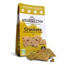 Résurrection - Lot de 2 x Crackers farine de sarrasin et graines de courges