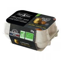 Saveurs & Nature - Boite 6 mini-oeufs au praliné enrobés chocolat noir 55g