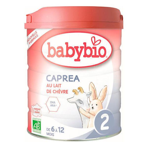 Babybio - Capréa 2 Lait de chèvre infantile bio 2ème âge 800g - Dès 6