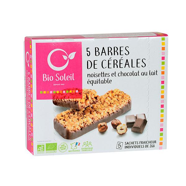 Bio Soleil - Barres de céréales noisettes chocolat x5 130g