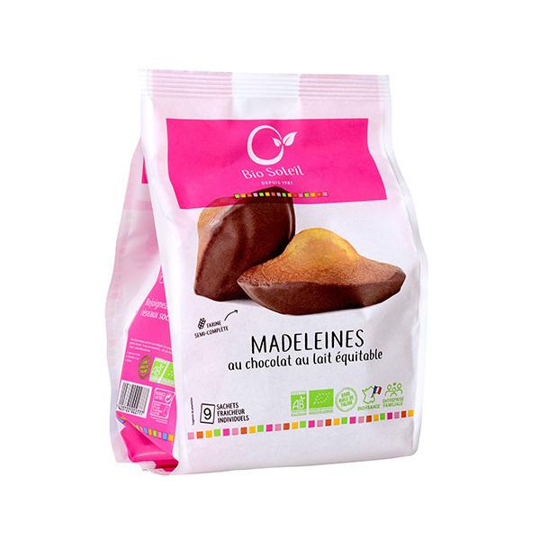 Bio Soleil - Madeleines au chocolat au lait x9 200g