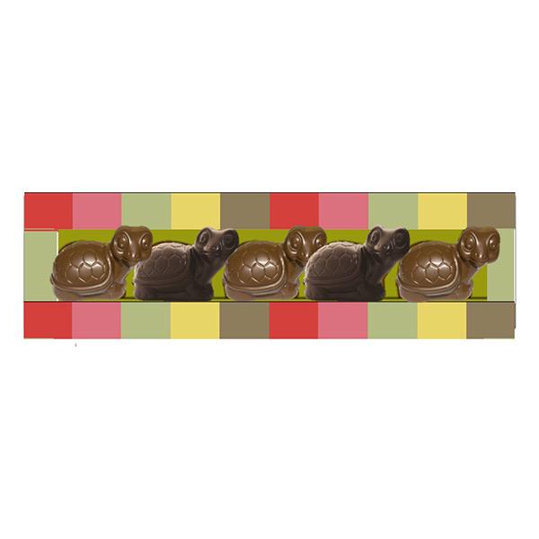 Chocolaterie Castelain - Réglette 5 tortues 75g