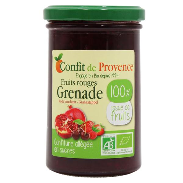 Confit de Provence - Confiture allégée en sucre Fruits rouges Grenade 290g