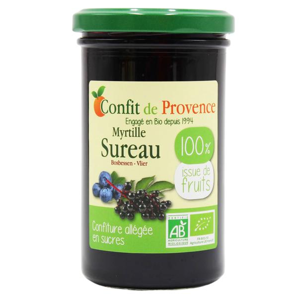Confit de Provence - Confiture allégée en sucre Myrtille Sureau 290g
