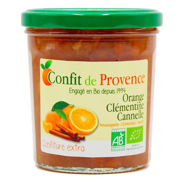 Confit de Provence - Confiture extra orange clémentine cannelle 370g