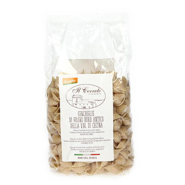 Il Cerreto - Conchiglie blé dur ancien Demeter 500g
