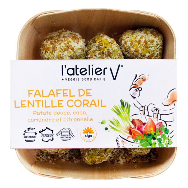 L'atelier V - Falafel lentille corail coriandre sésame coco curry 224g