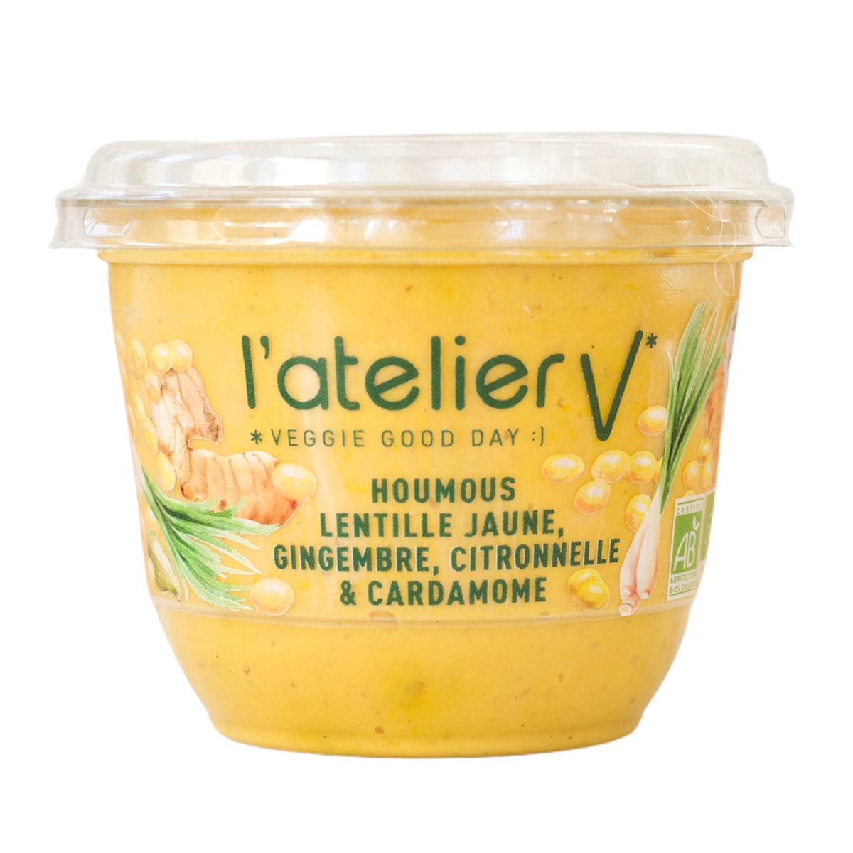 L'atelier V - Houmous lentille jaune, gingembre et citronnelle 150g