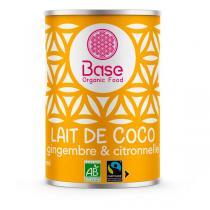 Base Organic Food - Lait de coco gingembre et citronnelle 40cl