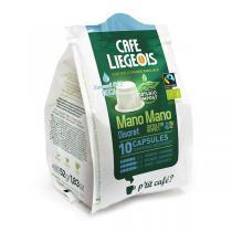 Café Liégeois - Capsules Café Déca Discret Mano Mano 10pc