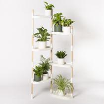 Citysens - Étagère à 6 plateaux avec plantes Blanc