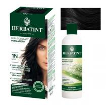 Herbatint - Lot Soin colorant permanent 1N Noir et Shampooing normalisant