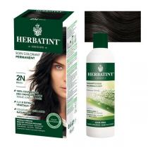 Herbatint - Lot Soin colorant permanent 2N Brun et Shampooing normalisant