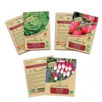 La Semence Bio - Lot de 3 sachets de graines à semer Petits légumes bio